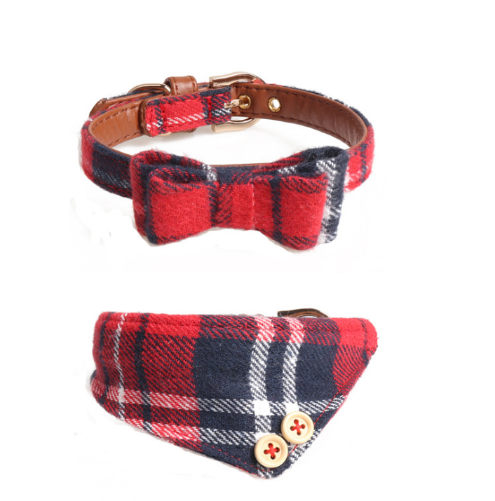 New Bow collar dog triangle scarf pet collar for all cats and small medium large Dogs