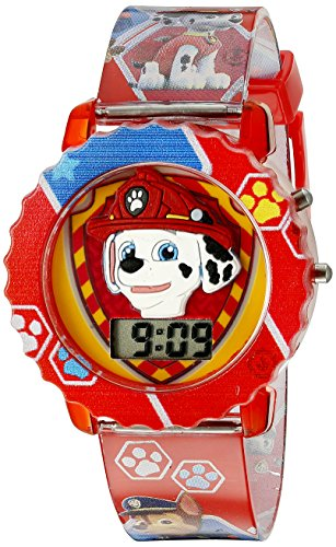 Paw Patrol Kids' Digital Watch with Red Case, Comfortable Red Strap