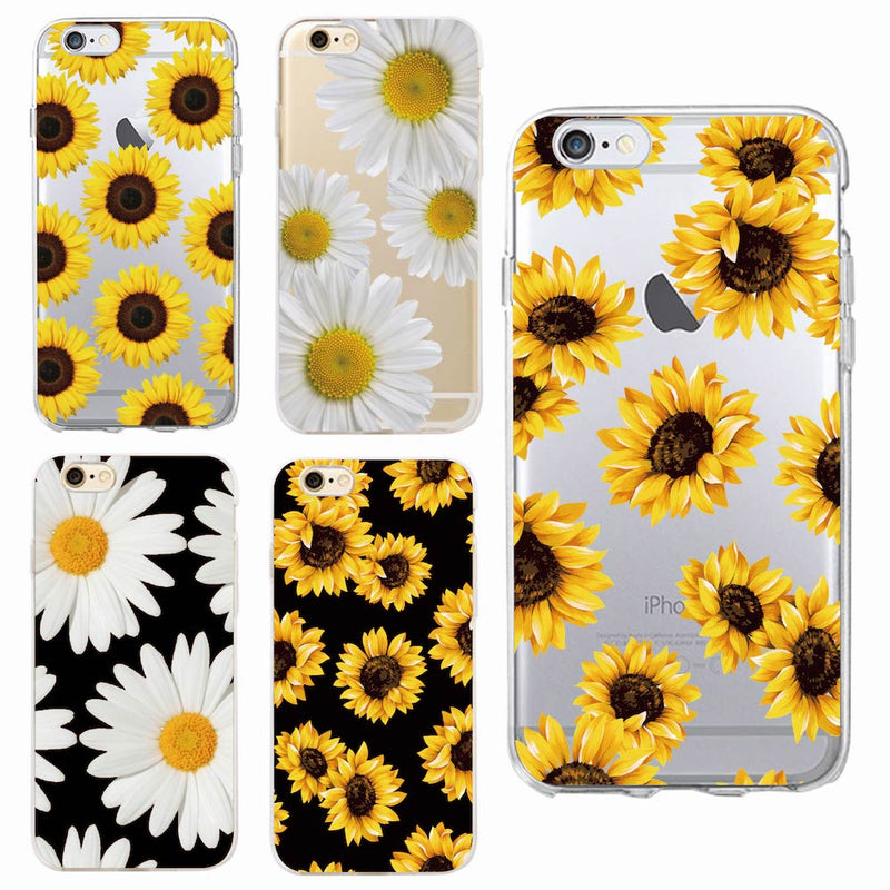 Cute Summer Daisy Sunflower Floral Flower Soft Clear Phone Case