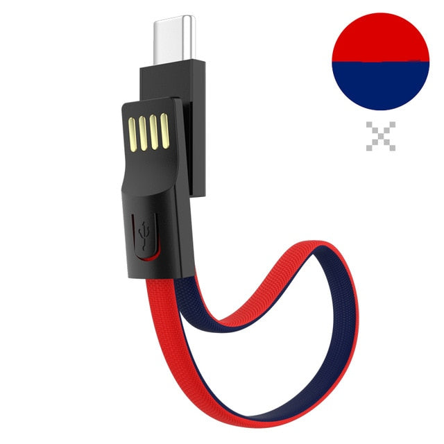 Portable Keychain USB Data cable for iPhone Micro USB Type C