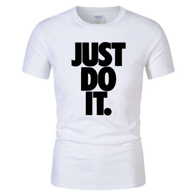 Just Do It T Letter print t-shirt