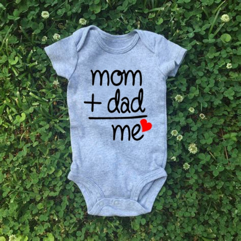 Mom Plus Dad Equals Me Cute Baby Bodysuit