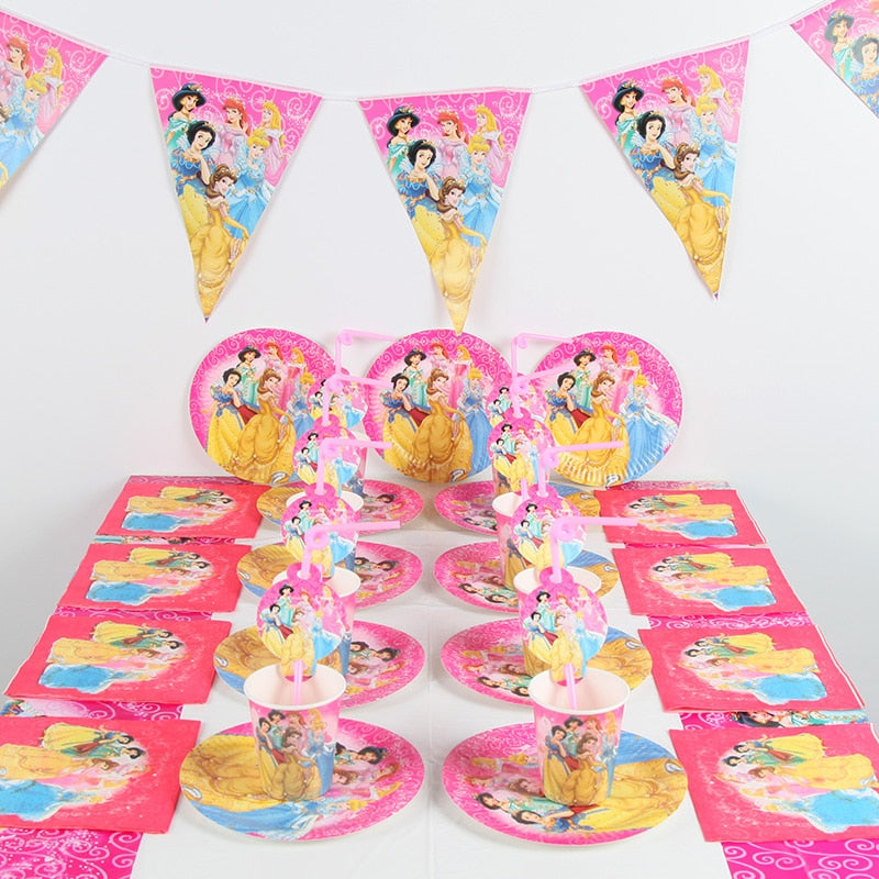 91pcs/lot DISNEY Princess party supplies set