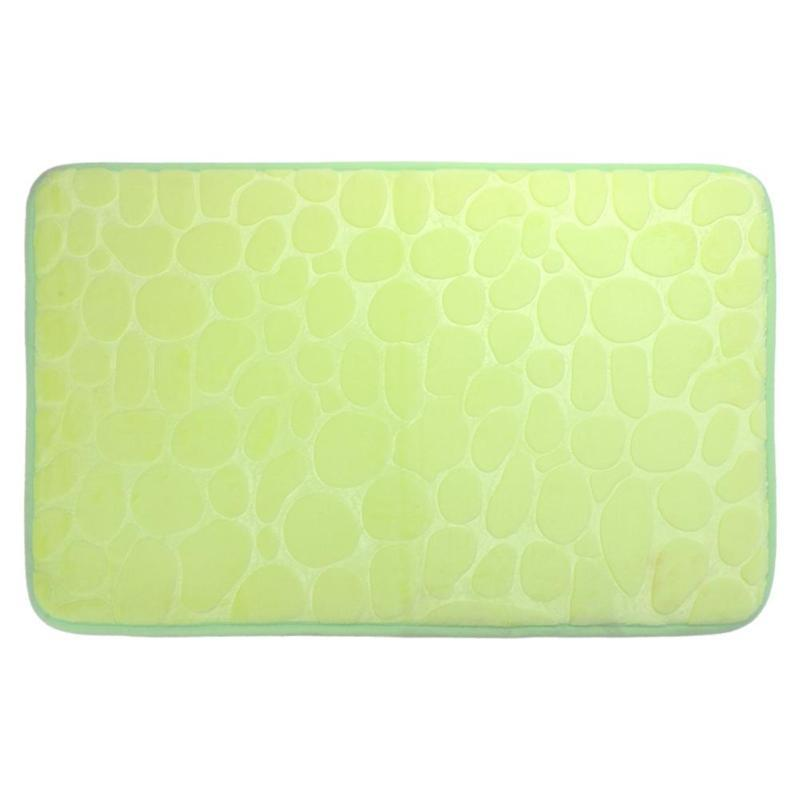 Slip Flannel Bath Mat Toilet Floor Mat Water Dust Absorbing Bathroom  Cushion