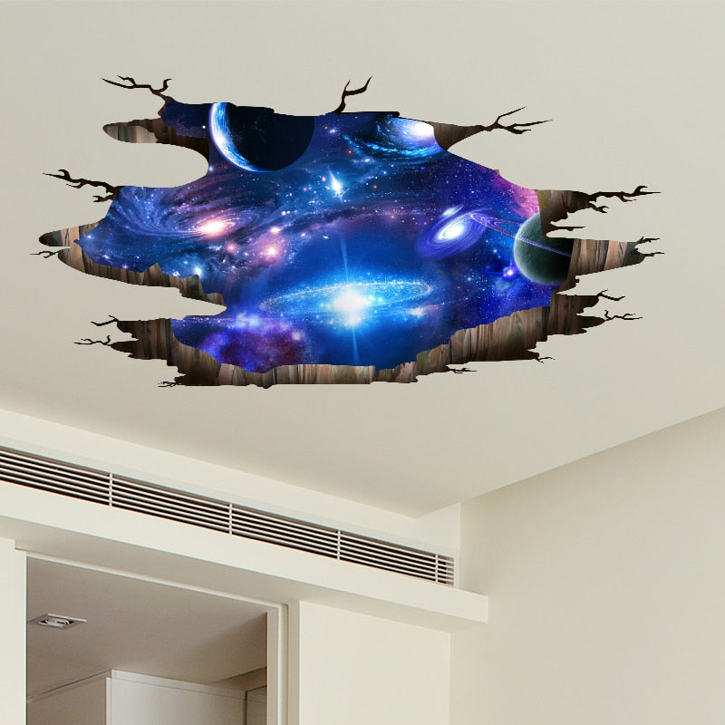 Universe Galaxy 3D Wall Stickers DIY Outer Space Milky Way Wall Decor