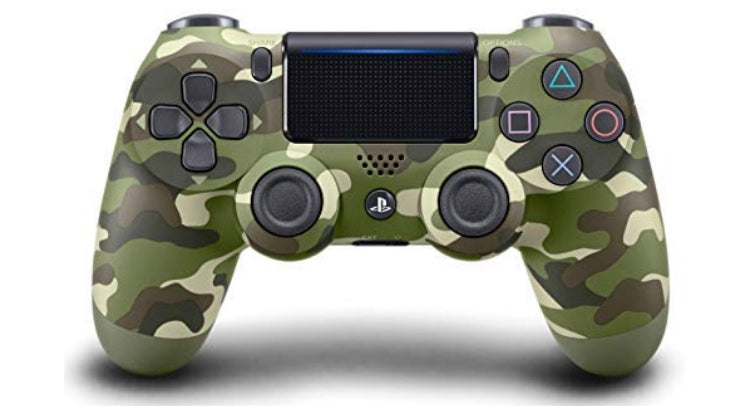 Sony- Dual Shock 4 wireless controller for PlayStation 4 green camouflage