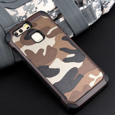 Camouflage Pattern 2in1 back cover PC+TPU Armor protective phone cases