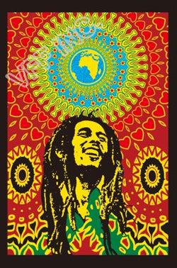 Bob Marley One Love Flag Jamaica Rasta Flag 3ft x 5ft Polyester Banner