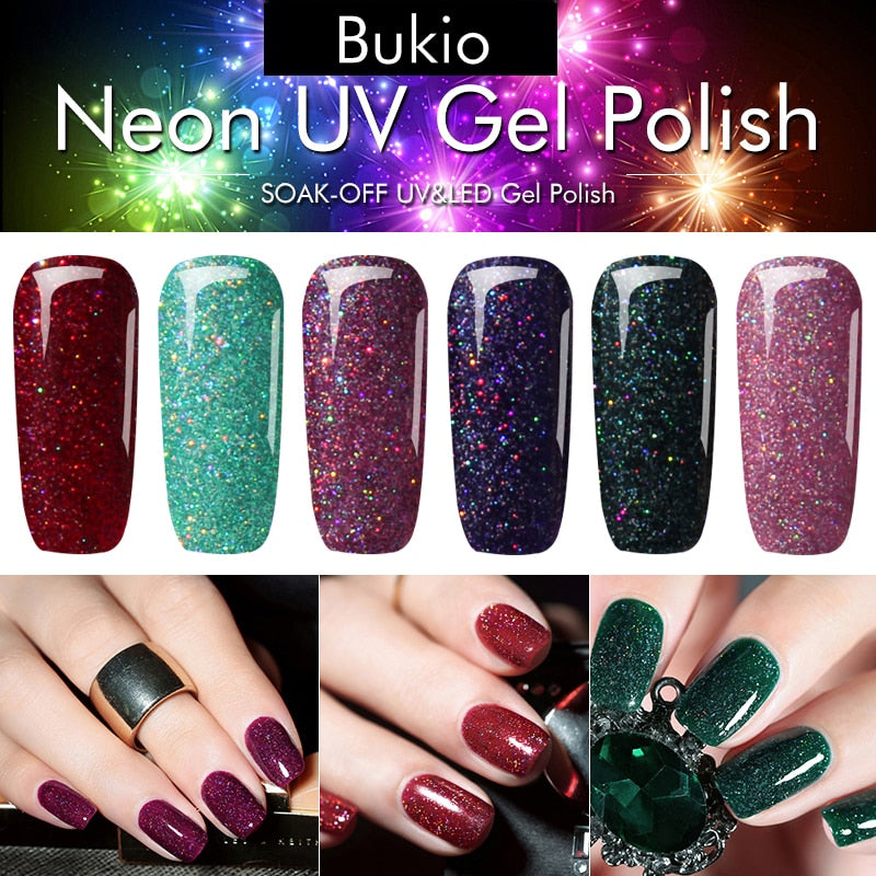 Neon Gel Polish Emerald Green Color Nail Art Semi Permanent Gel Varnish