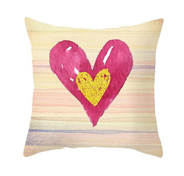 Black White Heart Cushion  Pillow Covers