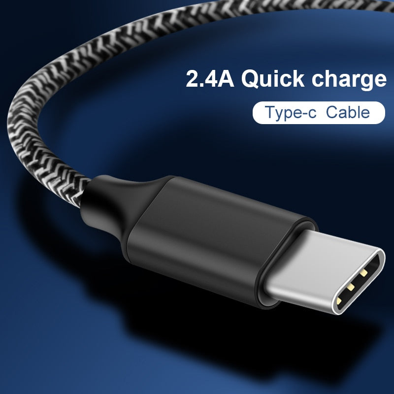 Coolreall Data Sync Transfer Charger Nylon Cord