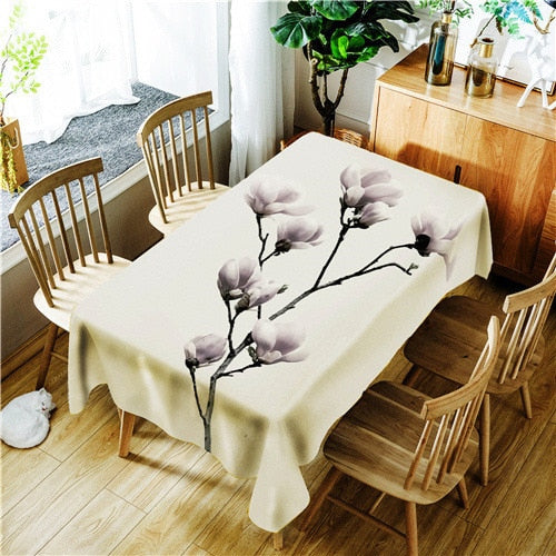 Digital Printing Polyester Waterproof Tablecloth
