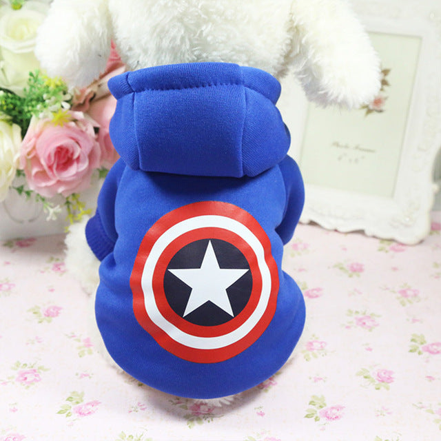 Dog Hoodies Pet Clothes For Dogs Coat Jackets Cotton Dog Clothes Puppy Pet Overalls