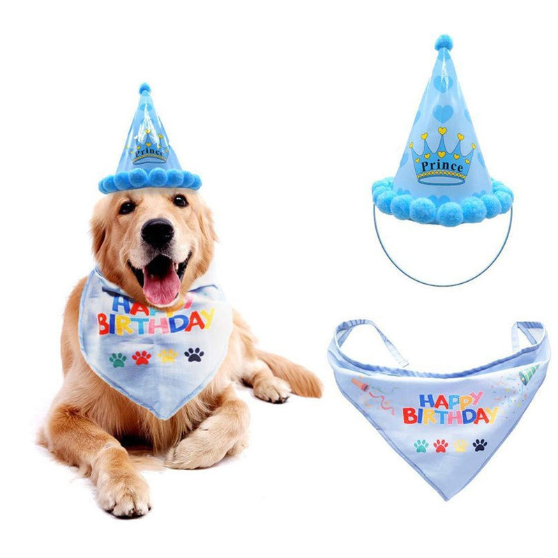 Pet Cat Dogs Caps Birthday Headwear Caps Hat Party Costume Headwear Cap Tie Party Pets Accessories