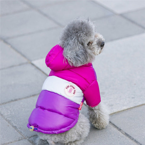 Pet Hooded Winter Warm Coat Dogs Waterproof Clothes Jacket
