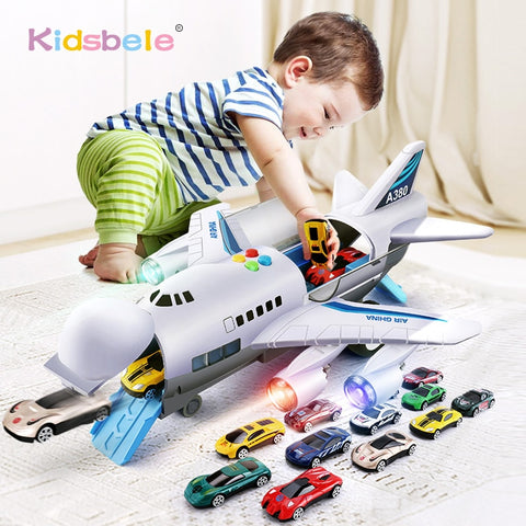 Kids Toys Simulation Track Inertia Airplane Music Stroy Light Plane