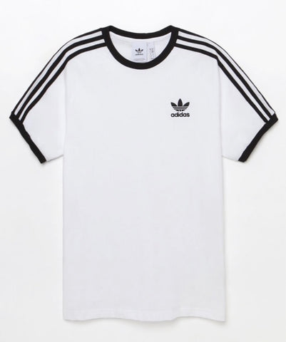 adidas 3-Stripes White and Black Ringer T-Shirt