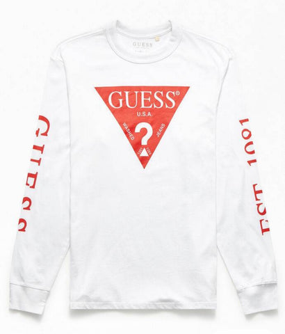 Guess Triangle Logo Long Sleeve T-Shirt