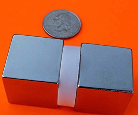 "Super Strong Neodymium Magnet N52 1"" Cube Permanent Magnet"