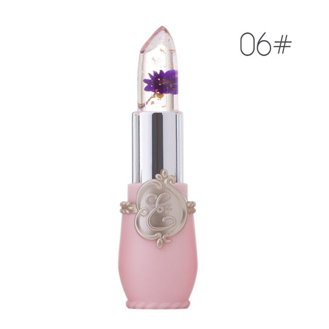 Jelly Lipstick Moisturizing Repair Lip Care Cosmetic Tool Transparent Flower Color