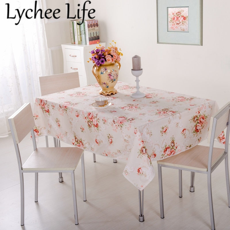 Printed Table Clothes Modern Simple Style Home Textile Dining Room Decor