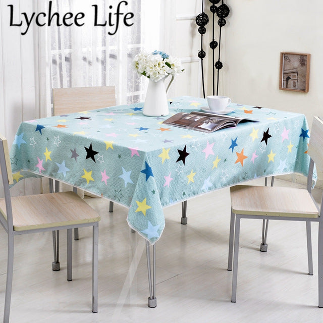Lychee Life Print Table Cloth Simple Style Home Textile Dining Room Decoration