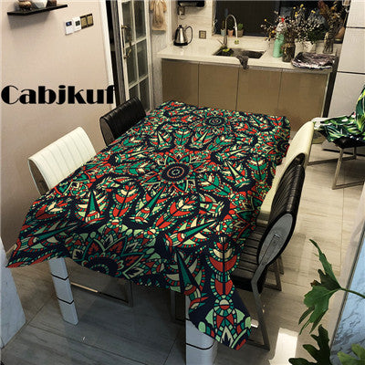 Modern Festive Ornament Waterproof Table Cloth