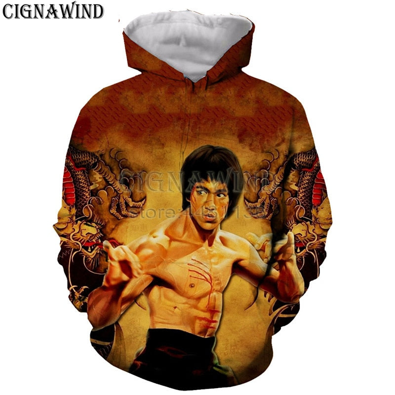 hoodie men/women 3D printed  hoodies Bruce Lee sweatshirt