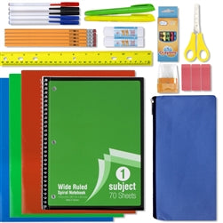 Wholesale 30 Piece School Supply Kit Case Pack 12
