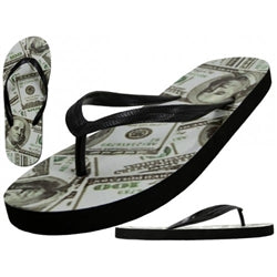 Wholesale Women's US Dollars Print Flip Flops Case Pack 48