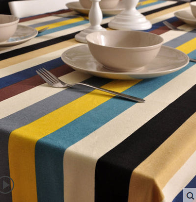 Kingart Colorful Tablecloth Cover