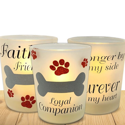 Pet Memorial Candle Set - No Longer By My Side