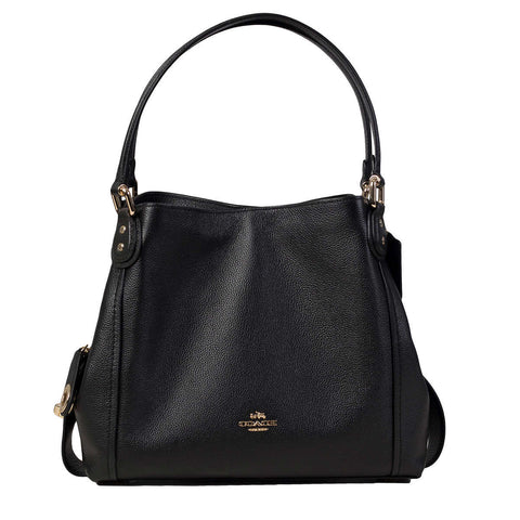 Coach Turnlock Edie Shoulder Bag, Black