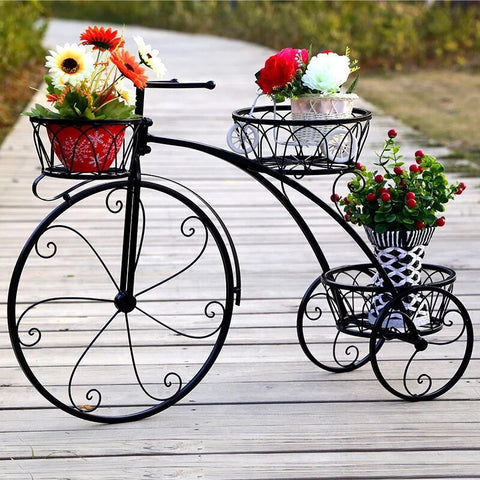 Iron Plant Shelf Flower Rack Metal lf Multi-layer Bicycle Metal Shelves Plants Stand