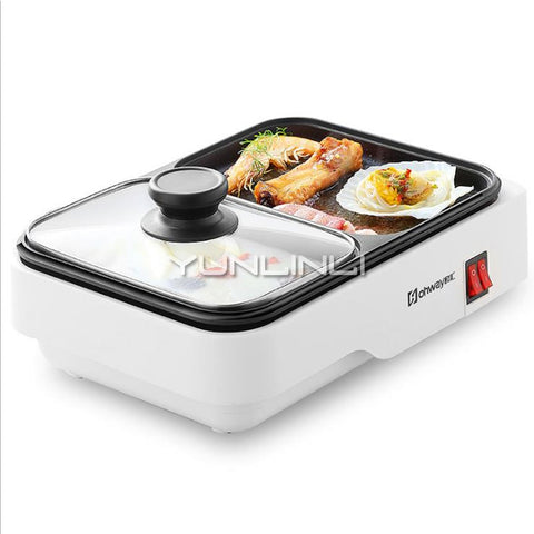 Smokeless Barbecue Grill Household Barbecue & Hot Pot 2 in 1 Machine Electric