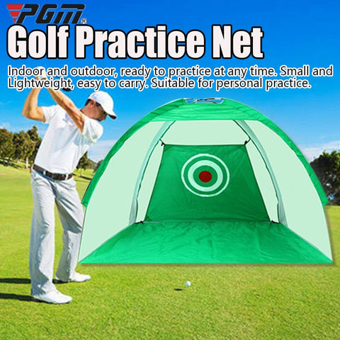 Foldable Golf Hitting Cage Training Aids Indoor Outdoor Sport Golf Cage