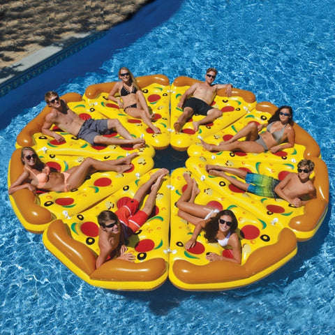Giant 180cm Inflatable Pizza Slice Pool Floats Swimming Ring Floating Row For Childen Adults Water Toys Mattress Sea Party