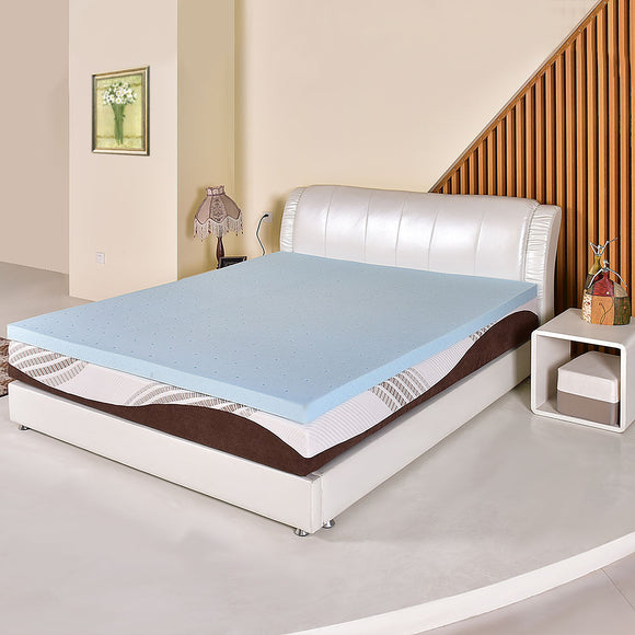 3'' Gel Memory Foam Mattress California King Size Bed Mat Pad Topper