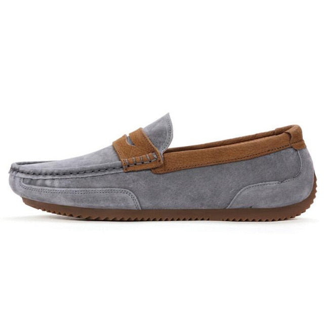 Tangnest Brand Men Suede Leather Loafers