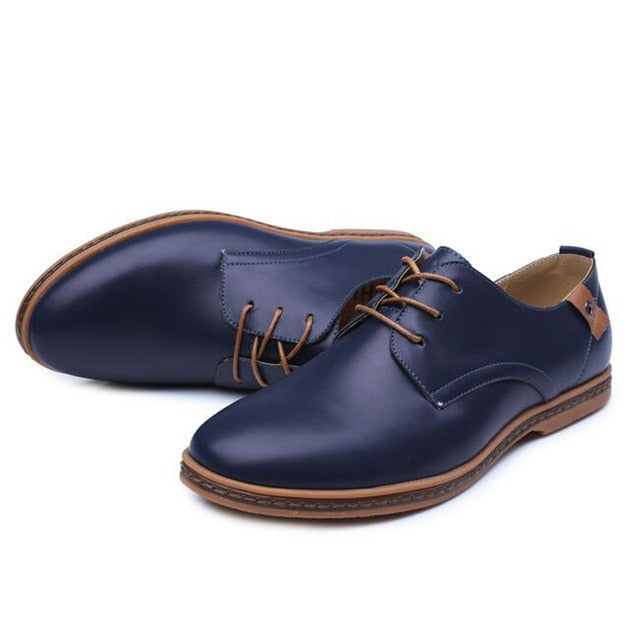 Tangnest  New British Style Shoes Men PU Leather Dress Shoes