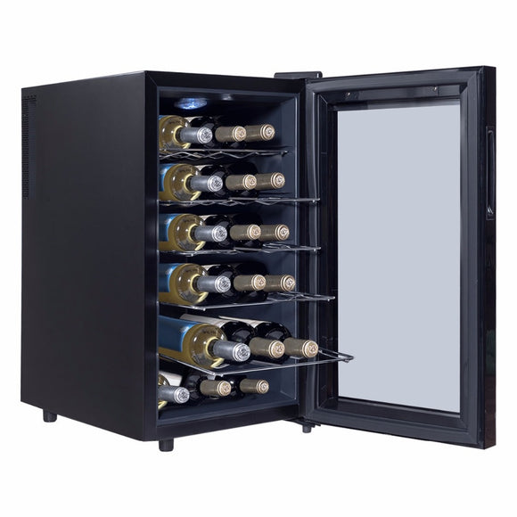 6/12/18 Bottles Thermoelectric Wine Cooler Freestanding Temperature Display Bar