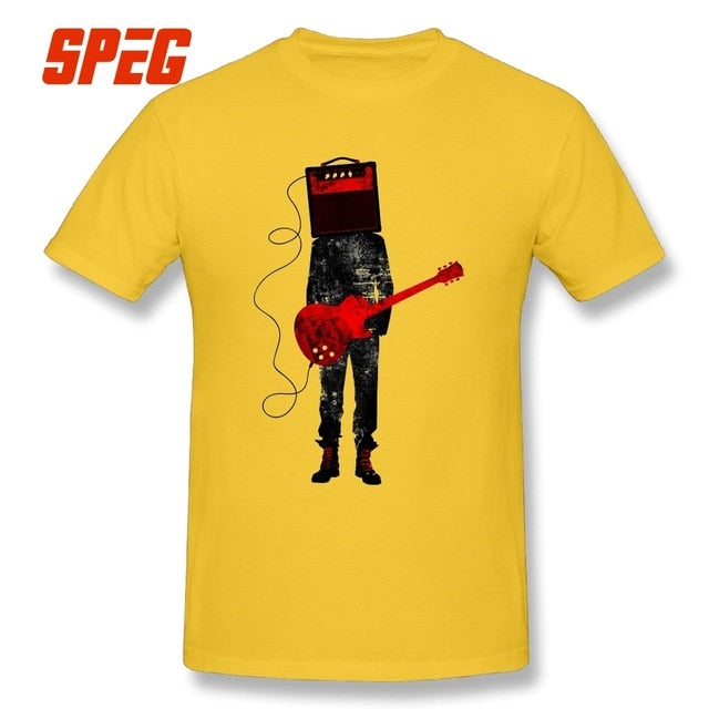 Acoustic Electric Guitars Rock Music  Man Slim Fit Short Sleeve Tee Shirts New High Quality Adult