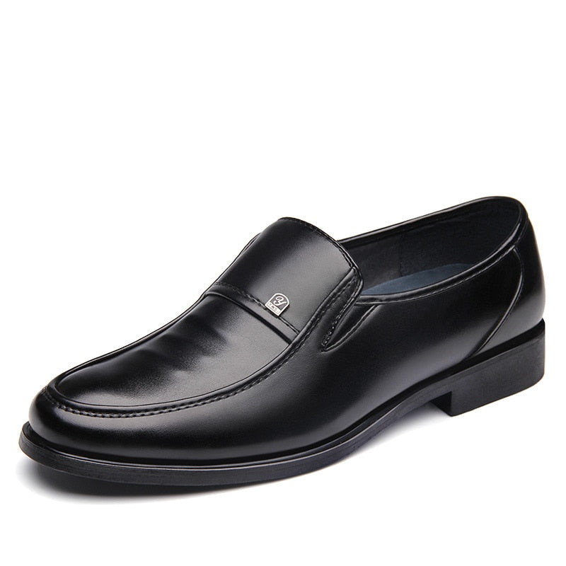 Men Casual Business Faux Leather Shoes Pointed Toe Casual Flats Dress Shoes