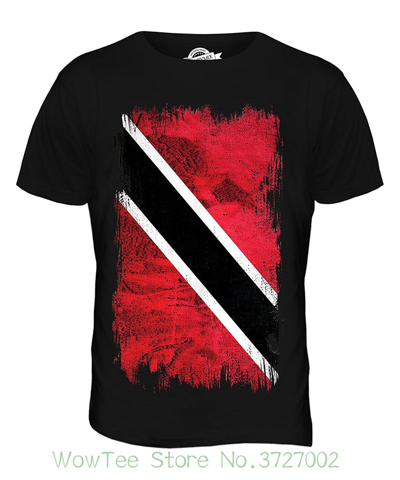 Candymix Men's Trinidad And Tobago Grunge Flag T Shirt T-shirt Top Tee Shirt Short Sleeve Tops