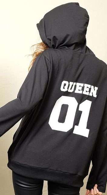 KING Queen Princess Prince Print Sweatshirts Pullover for Man and Women Child