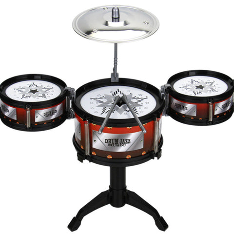 Children Jazz Drum Toy Cymbal Sticks Rock Set Musical Hand Drum