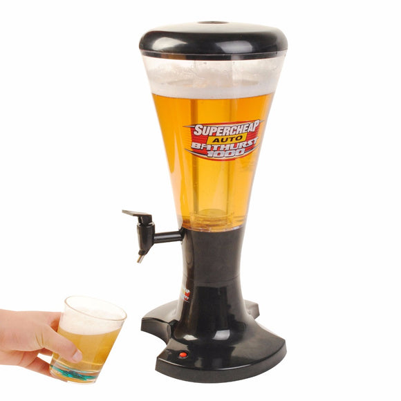 3L Cold Draft Beer Tower Dispenser Plastic with LED Lights New   KC25944-5