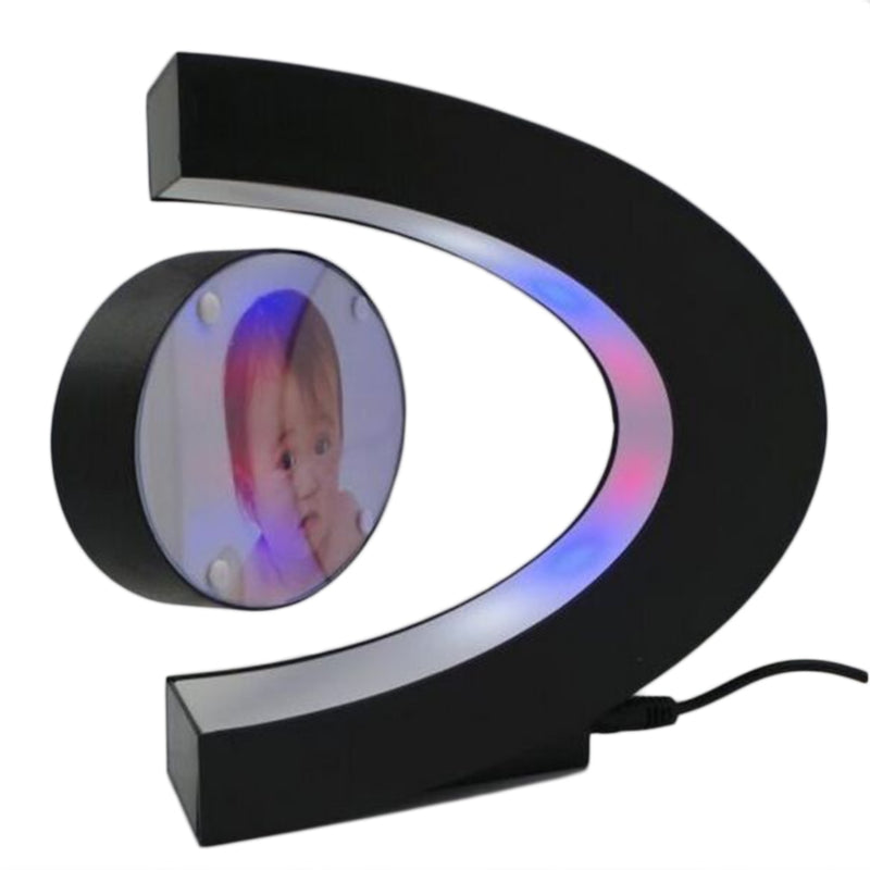 C-shaped Plastic Magnetic Floating Picture Photo Frame Home Decor Birthday Gift Special Design