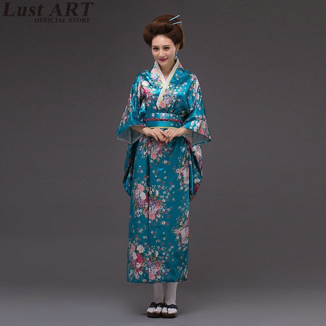 Japanese kimono traditional dress cosplay female
