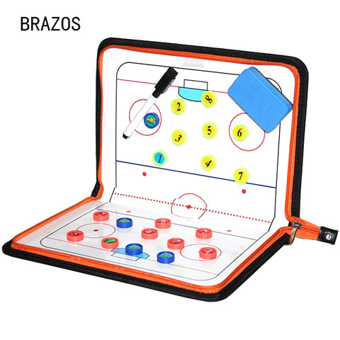 Zipper Ice Hockey Coach Tactical Board Magnetic Ball Clipboard